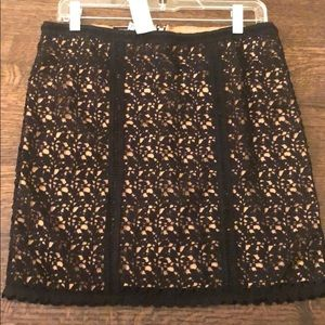 Womens Black Kendall and Kylie Lace mini skirt, L.